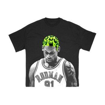 ロッドマンブランド RODMAN BRAND HAIR GREEN TSHIRT ヘアグリーンTシャツ BLACK ブラック S/S T-SHIRTS