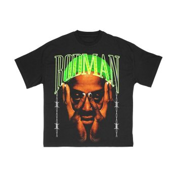 ロッドマンブランド RODMAN BRAND BARBWIRE GREEN TSHIRT バーブワイヤーグリーンTシャツ BLACK ブラック S/S T-SHIRTS