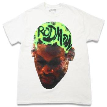 ロッドマンブランド RODMAN BRAND RODMAN HEAD GREEN TSHIRT ヘッドグリーンTシャツ WHITE ホワイト S/S T-SHIRTS
