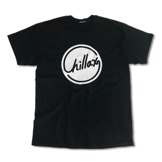 Chillax Circle Logo T (Black/White)