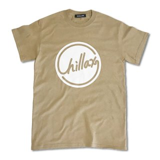 Chillax Circle Logo T (Beige/White)