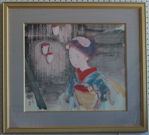 舞妓/土田麦僊 (木版画)