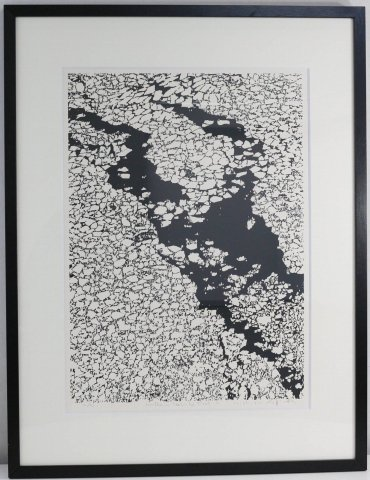 Northern Seas−Ice Floes F /富岡惣一郎(シルクスクリーン版画)
