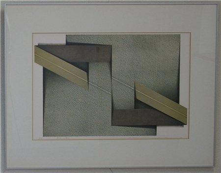 解放される概念/小林清子 (リトグラフ版画)