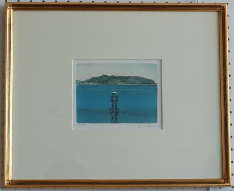 海/中山爾郎 (リトグラフ版画)