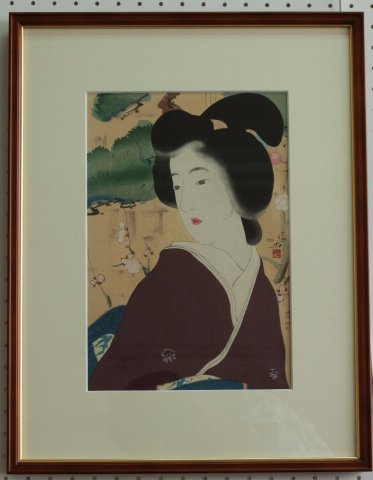 春粧〜明治の女 風俗三十二相/鏑木清方 (復刻木版画)