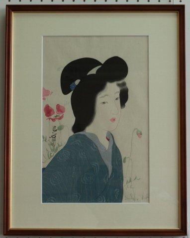 けしの花〜明治の女 風俗三十二相/鏑木清方 (復刻木版画)