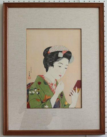 京舞妓〜丹青社版/橋口五葉 (復刻木版画)