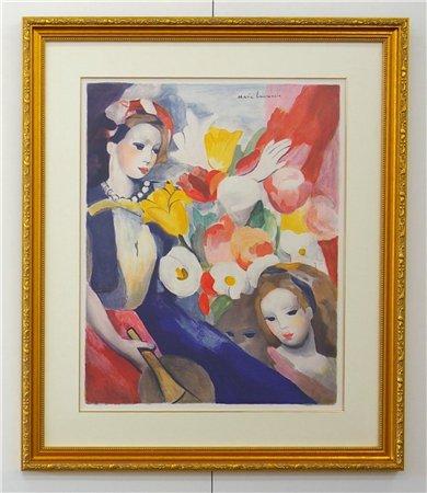 アラベスク/マリー・ローランサン (銅版画)