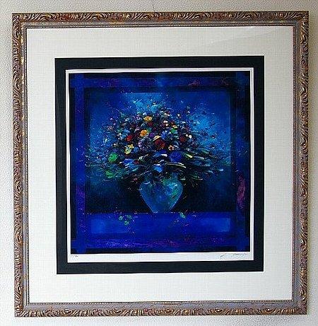 青いコンポジション/フランソワ・ディザルニー (リトグラフ版画)