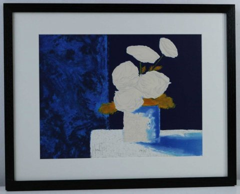 白い花/パトリック・ルオー (リトグラフ版画)