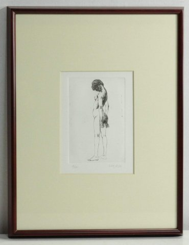 裸婦/佐藤忠良 (銅版画)