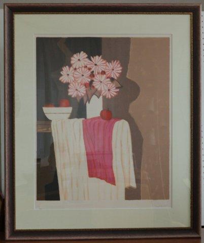 果物とひな菊/アンドレ・ヴィギュド (リトグラフ版画)