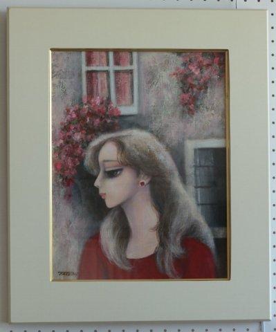花の窓 F6/水落たけ乃 (油彩)