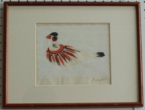 鳩笛〜2/鈴木力 (木版画)