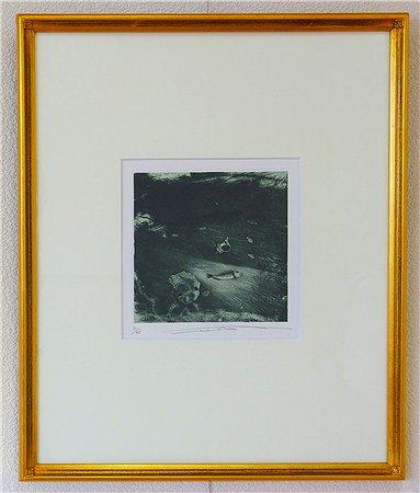 貝と魚/渡辺達正 (銅版画)