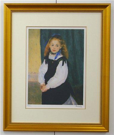 ルグラン嬢の肖像/オーギュスト・ルノワール (リトグラフ版画)