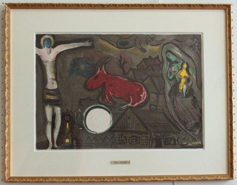 キリストと赤い山羊/マルク・シャガール (リトグラフ版画)