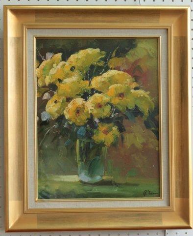 黄色い花  F6/フランソワ (油彩)