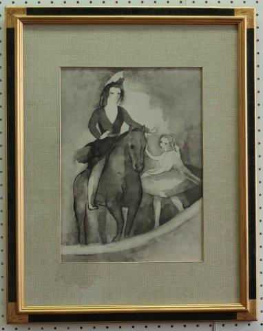 愛馬と一緒に(仮題)  舞踏のための対話/マリー・ローランサン(リトグラフ版画)