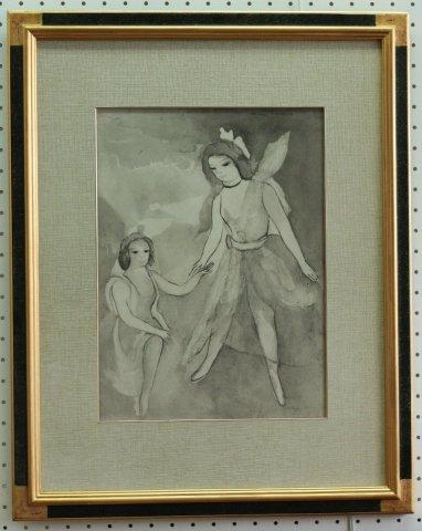 踊り子たち(仮題)〜舞踏のための対話/マリー・ローランサン (リトグラフ版画)