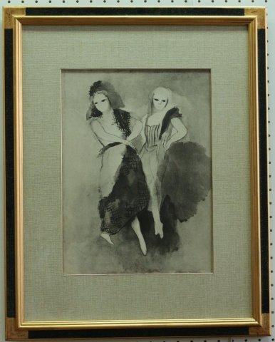 華麗な舞(仮題)〜舞踏のための対話/マリー・ローランサン(リトグラフ版画)