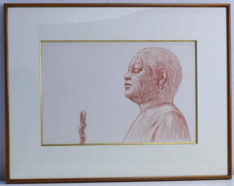 シェイク・エル・バラド像 第4王朝 - [カイロ博物館]/杉山寧(コロタイプ版画)