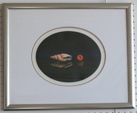 貝とチェリー/佐藤暢男 (銅版画)