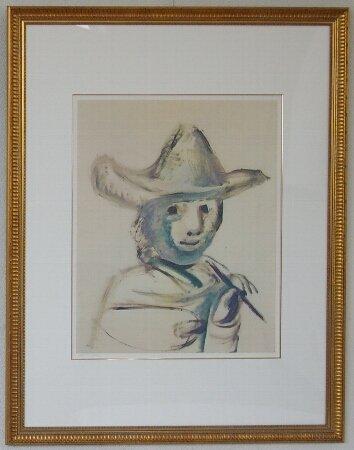 若い画家/パブロ・ピカソ  (リトグラフ版画)