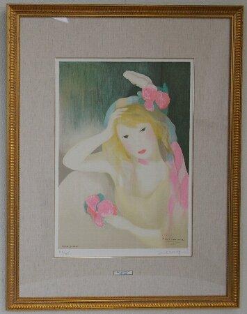 シャルリ・デルマ夫人の肖像/マリー・ローランサン  (リトグラフ版画エスタンプ)