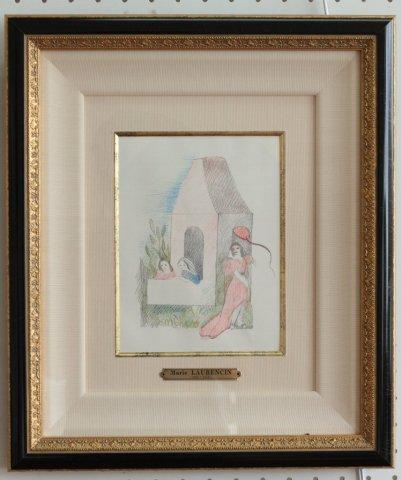 人形の家 本のための刷り/ マリー・ローランサン (銅版画)