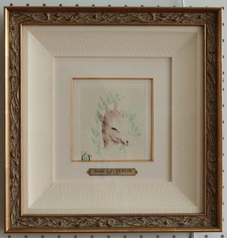 山羊の月〜本のための刷り/マリー・ローランサン (銅版画)
