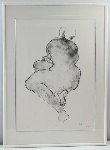 裸婦A/佐藤忠良 (リトグラフ版画)
