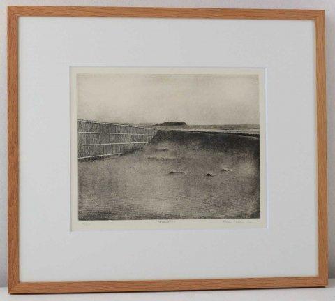 砂に波/ピーター・ミラー  (銅版画)