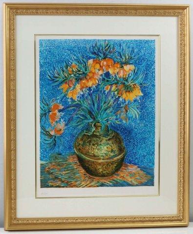 銅器の花/ヴィンセント・ヴァン・ゴッホ (リトグラフ版画エスタンプ)