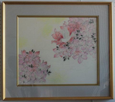 春の園/岩田正巳 (素描)