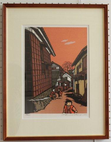 懐郷の詩より−1/関口コオ (リトグラフ版画)