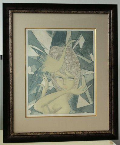 裸婦-2/東郷青児(銅版画)