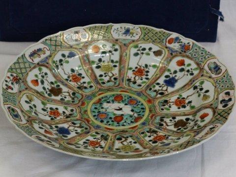 中国陶磁器 「見込童子文大皿」