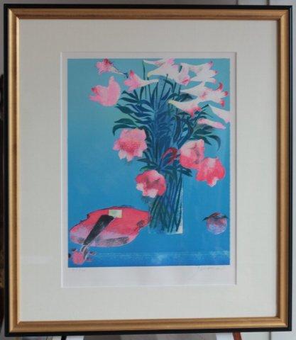 オリエンタル・リリー/ポール・ギアマン (リトグラフ版画)