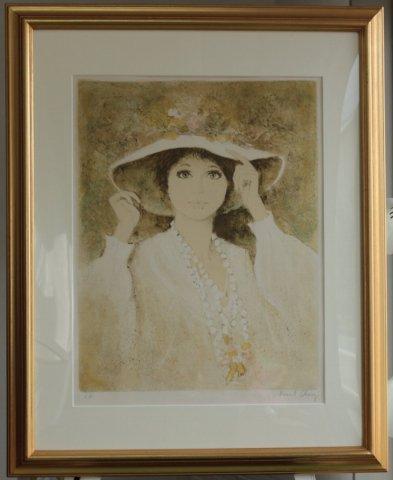 首飾りの娘 /ベルナール・シャロワ (リトグラフ版画)