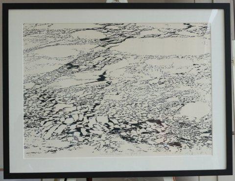 Northern Seas−Ice Floes C/富岡惣一郎 (シルクスクリーン版画)