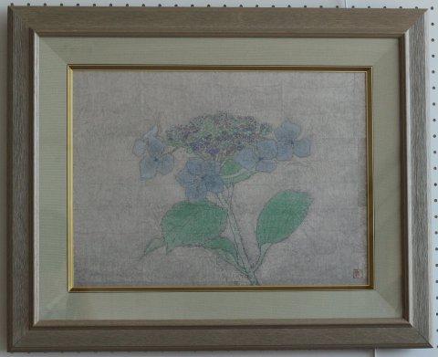 額の花 P8/白井進(日本画)