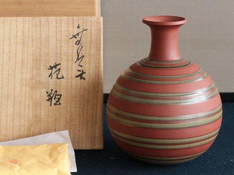 無名異花瓶/長浜数右衛門 (佐渡やきもの・陶器)