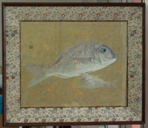鯛 10号/浜倉清光 (日本画)
