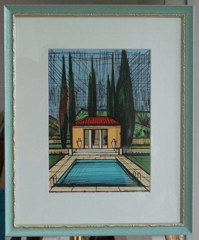 ラ・ボールの庭/ベルナール・ビュフェ (リトグラフ版画)