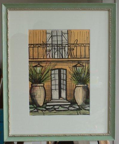 ラ・ボールの家/ベルナール・ビュフェ (リトグラフ版画)