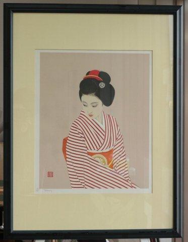 舞妓/志村立美 (リトグラフ版画)