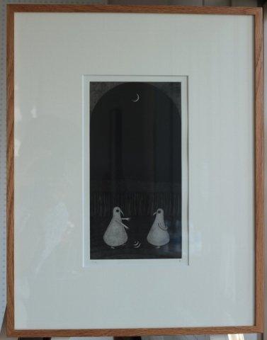 銅版画集《戯》から作品番号2/松崎滋 (銅版画)