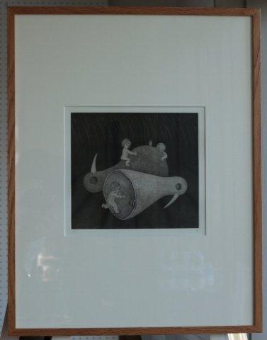 銅版画集《戯》から作品番号3/松崎滋 (銅版画)